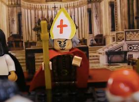 Bishop Salviati saying the Vespers
