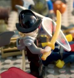 O'Callaghan, Irish knight mercenary Lego figure
