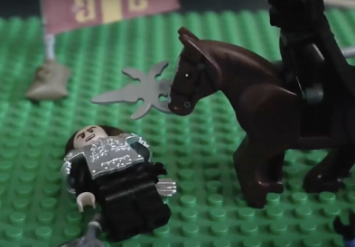 Death of Michael's younger brother John Palaiologos in 1266 Lego flashbacks