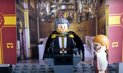 Michael VIII and Andronikos at the Blachernae throne room