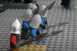 Charles' knights form the phalanx in the final battle