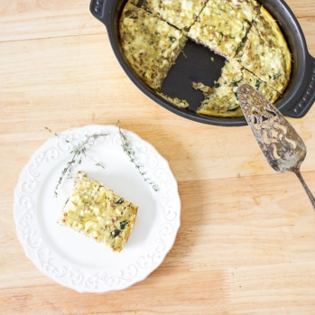 Recreated medieval Byzantine omelet