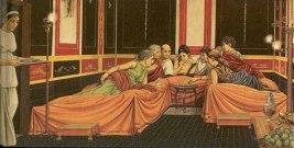 Ancient Roman Convivium (fine dining dinner) at an aristocrat's house
