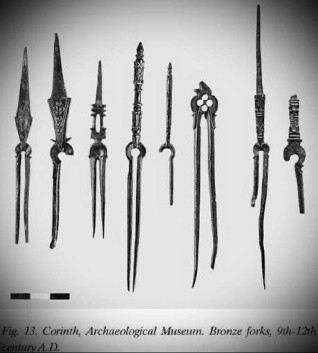 Byzantine forks, introduced to Europe by Theophano