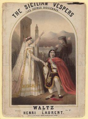 Sicilian Vespers Verdi opera poster