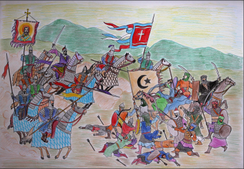 Byzantine army under Petronas defeats the Arabs at the Battle of Lalakaon, 863