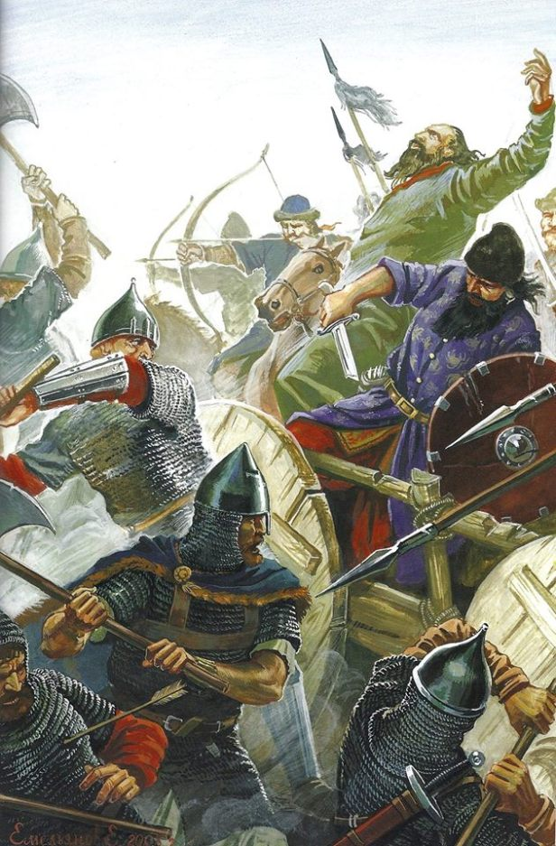 John II's Byzantine army defeats the Pechenegs at the Battle of Beroia, 1122