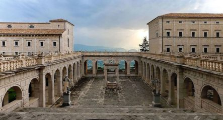 Monte Cassino Abbey, Italy, founded by St. Benedict in 529