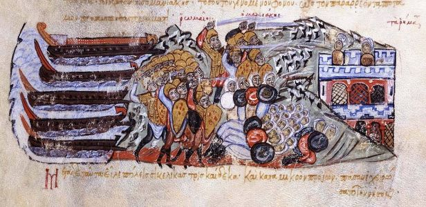George Maniakes defeats the Arabs in Sicily, 1038