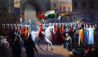 David Megas Komnenos, last emperor of Trebizond surrenders to Mehmed II, 1461