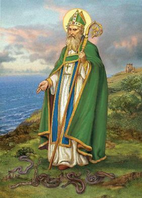 Bishop and missionary St. Patrick in Ireland