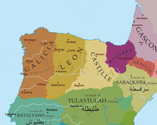 Map of 11th century Spain