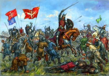 Battle of Kosovo, 1389, defeat of the Serbians to the Ottomans