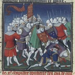 Battle of Tinchebray in 1106, victory of Henry I over Normandy