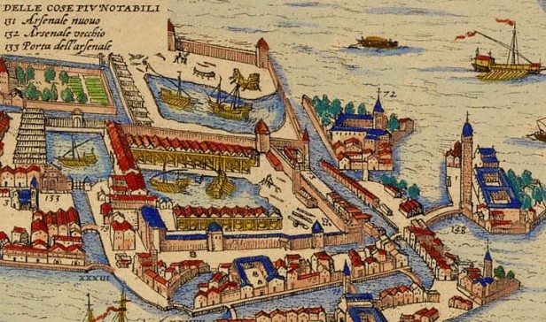 The Arsenal of Venice, founded in 1104