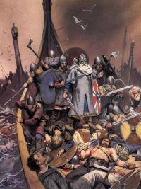 Battle of Svolder in 1000, Norwegian Vikings against Swedish and Danish Vikings