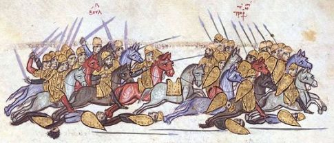 Byzantine defeat to the Bulgars at the Battle of Anchialos, 917