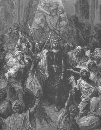 King Louis IX captured by the Ayyubids in Egypt, 1250