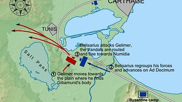 Belisarius' Byzantine Reconquest of North Africa, Battle of Ad Decimum, 533