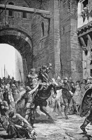 Lombards and their king Alboin invade Byzantine Italy, 568