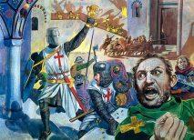 Crusaders attack and loot Constantinople, 1204