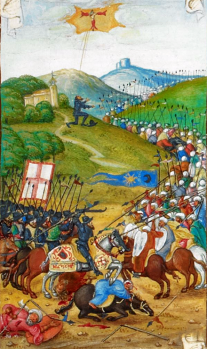 Portuguese defeat the Moors at the Battle of Ourique, 1139