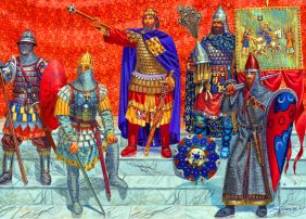 Emperor Alexios V with the last of the Varangian Guards, 1204