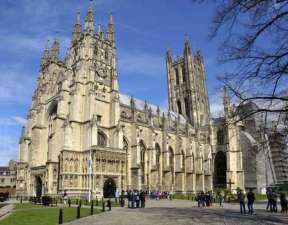 Canterbury Cathedral, England, began construction under William I in 1077