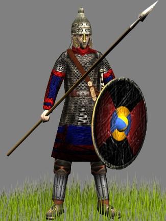 Burgundian Kingdom warrior