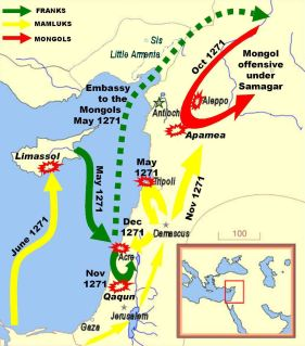 Map of the 9th Crusade, 1271