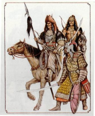 Bulgar hordes, 6th century