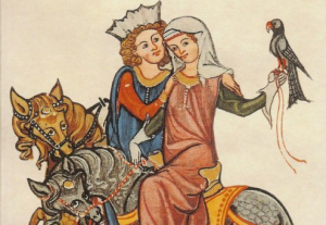 King Louis VII of France (r. 1137-1180) and wife Eleanor of Aquitaine