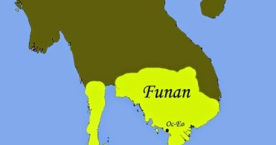 Kingdom of Funan in Southeast Asia, ended in 550