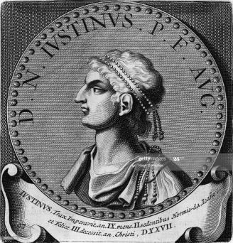 Byzantine emperor Justin II (r. 565-574)