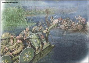 Romans attack Saxons in Britain, 367
