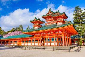 Heian Period temple in Heian-Kyo (Kyoto)