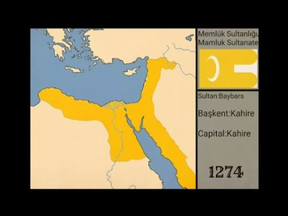 Map of the Mamluk Empire by 1274