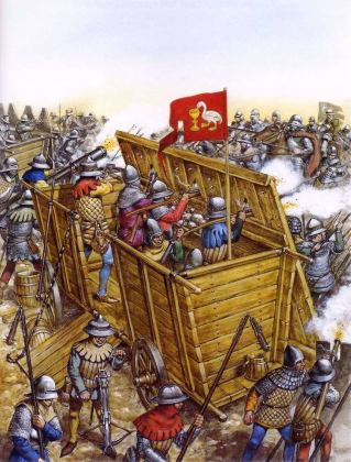 Hussite Wars- Hussite forces battle the Holy Roman Empire army, 1419-1434