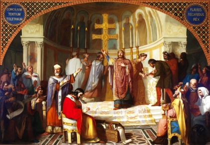 Reccared I at the Council of Toledo, 589