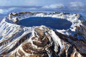 Baitoushan Volcano, China and Korea border, erupted in 1001