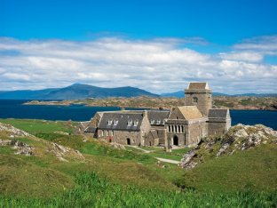 Iona Monastery, Scotland, founded by St. Columba in 563