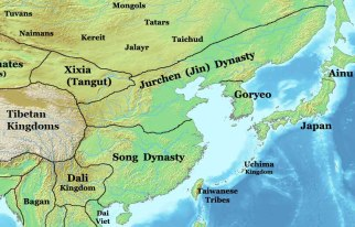 Map of 12th century China