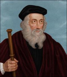 John Wycliffe (1330-1384), English philosopher and theologian