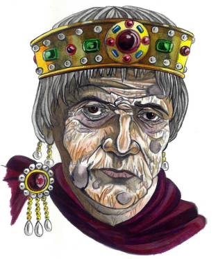 Emperor Justinian I at an old age in the 560s