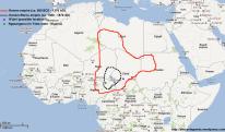 Location of the Kanem-Bornu Empire in Africa