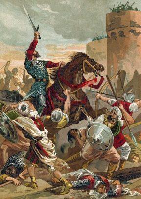 El Cid captures Valencia from the Moors, 1097