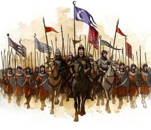 Arab armies march into Sassanid Persia, 633