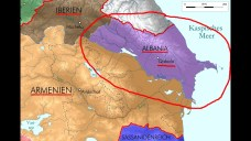Location of Albania in the Caucasus, lost to the Arabs in the 7th century