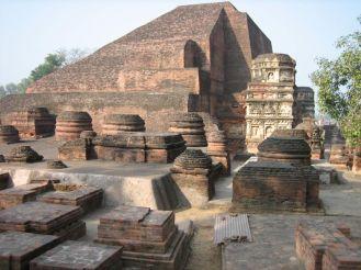 Remains of the Buddhist kingdom of Nalanda, India