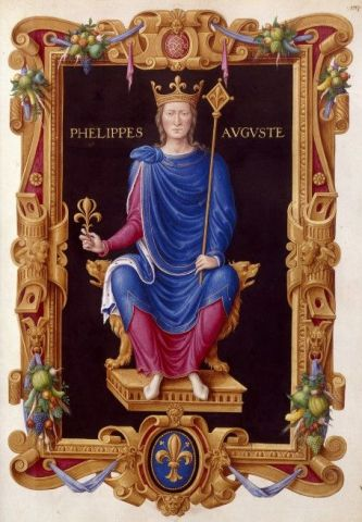 King Philippe II Auguste of France (r. 1180-1223)
